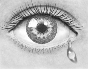 Pencil drawing eye