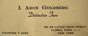 Jimmy's father's business card when he lived in New York.