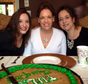 Carole, center, with her sister Felice Weinbaum, left, and  Sabrina Goldberg on the right.