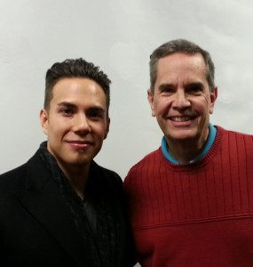 Olympic gold medalist Apolo Ohno and Extreme Genes radio host Scott Fischer.