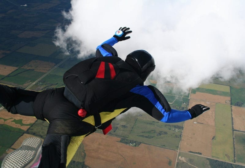 Skydiver in freefall – skydive
